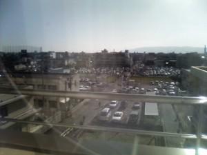 O市民病院デイルームからの眺め