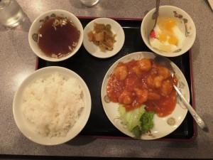 エビチリ定食880円