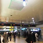 震災直後の品川駅