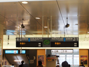震災直後の蒲田駅