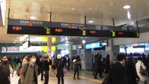 列車の運行は「準備中」|東日本大震災の翌週の品川駅